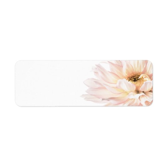 Pink Dahlia Flower - Dahlias Customised Template Return Address Label