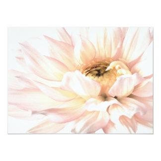 Pink Dahlia Flower - Dahlias Customized Template 14 Cm X 19 Cm Invitation Card