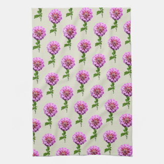 Pink Dahlia in the Rain Tea Towel