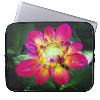 Pink Dahlia Laptop Bag