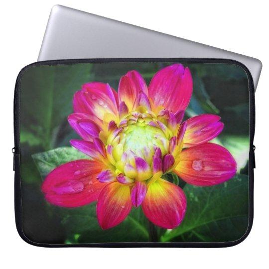 Pink Dahlia Laptop Bag