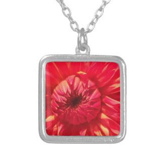 Pink Dahlia Silver Plated Necklace