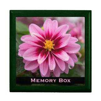 Pink Dahlia Tile Box Large Square Gift Box