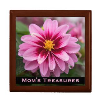 Pink Dahlia Treasure Box for Mom