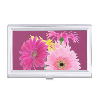 Pink Daisies Business Card Cases
