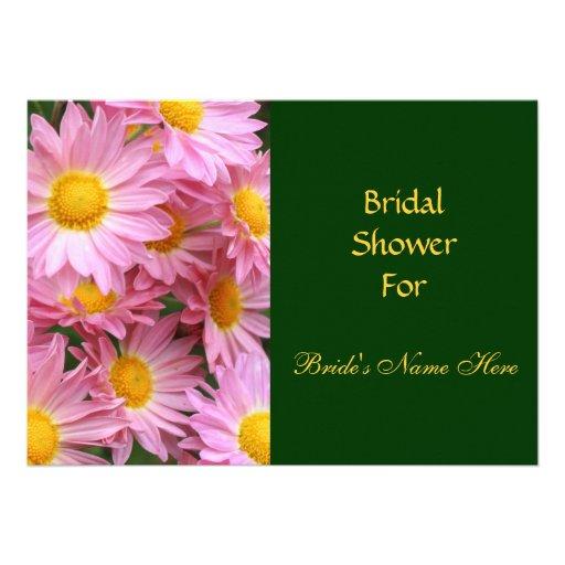 Pink Daisies Flower Bridal Shower Invitation