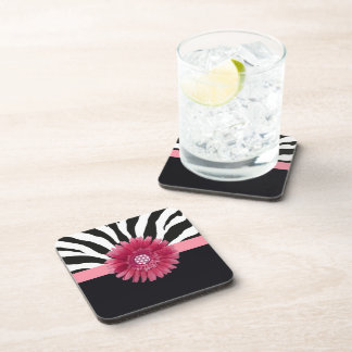 Pink Daisy 1 Beverage Coasters
