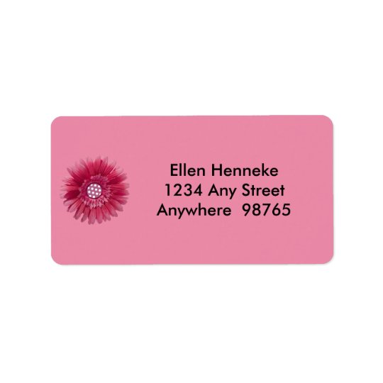 Pink Daisy 1 Label