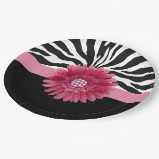 Pink Daisy 1 Paper Plate