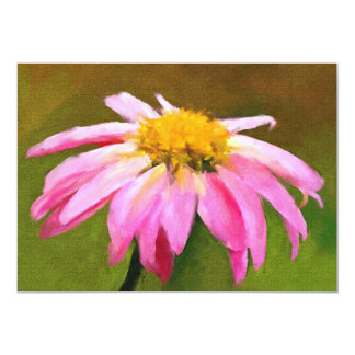 Pink Daisy 5x7 Mini Prints 13 Cm X 18 Cm Invitation Card