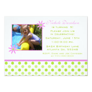 Pink Daisy and Polka-dots: Party Invitations