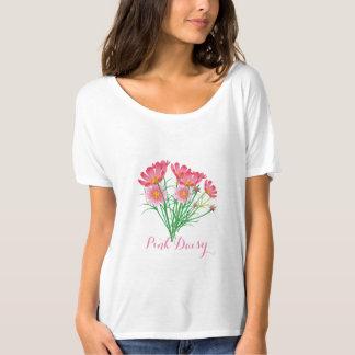 Pink Daisy Bella+Canvas Slouchy Boyfriend T-Shirt