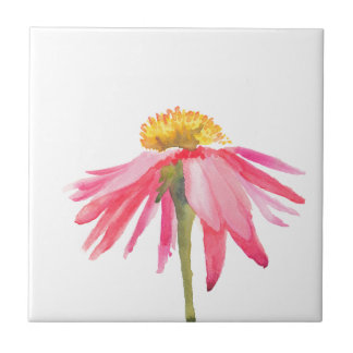 Pink Daisy Ceramic Tile