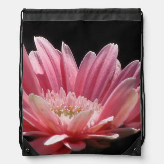 Pink Daisy Flower Cinch Bags
