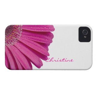 Pink daisy flower custom personalized girls name Case-Mate iPhone 4 case