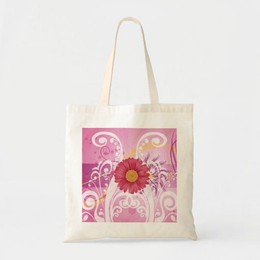 Pink Daisy Flowers Pictures Design Bags