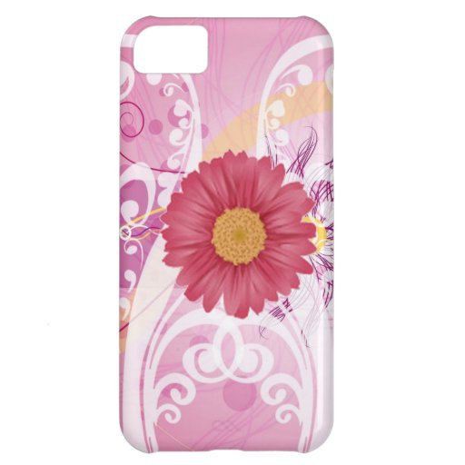 Pink Daisy Flowers Pictures Design iPhone 5C Cover