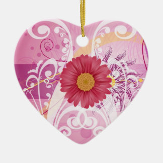 Pink Daisy Flowers Pictures Design Christmas Tree Ornament