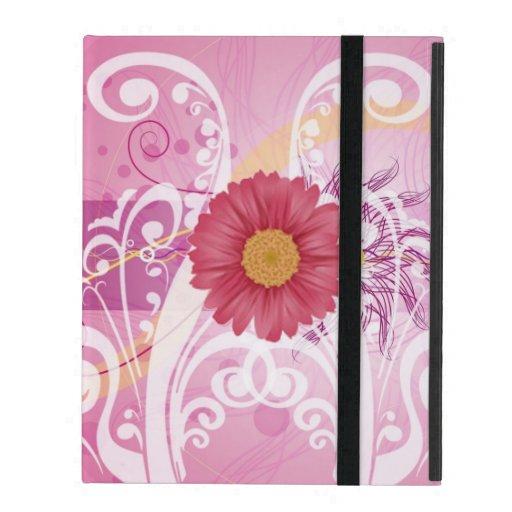 Pink Daisy Flowers Pictures Design iPad Folio Case