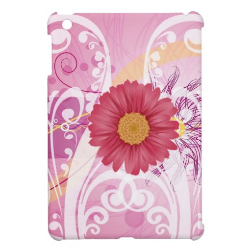 Pink Daisy Flowers Pictures Design iPad Mini Cover