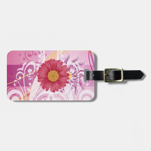 Pink Daisy Flowers Pictures Design Luggage Tags