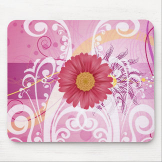 Pink Daisy Flowers Pictures Design Mousepad
