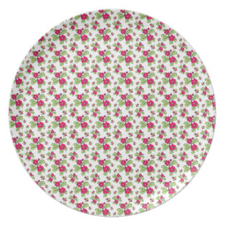 Pink Daisy Flowers Plate