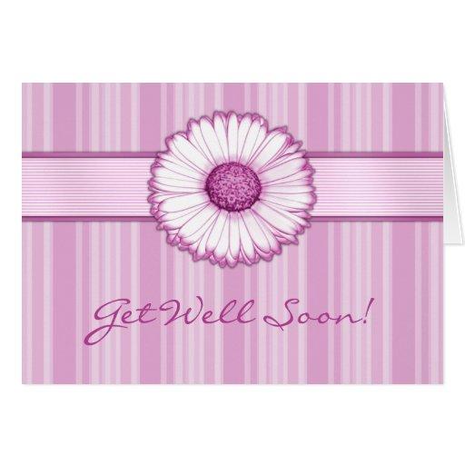 Pink Daisy Get Well Soon Card