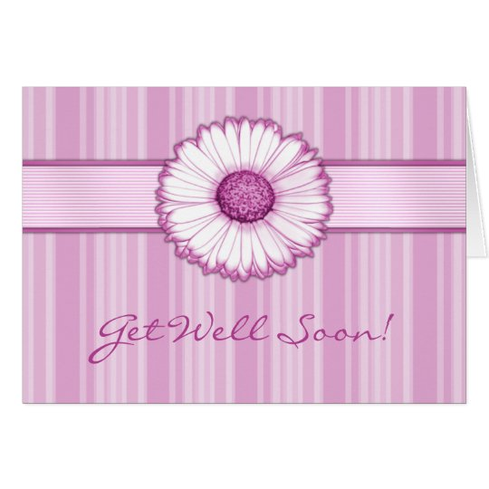 Pink Daisy Get Well Soon Card