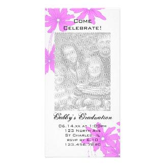 Pink Daisy Graduation Party Invitation Photo Card