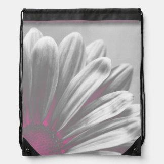 Pink Daisy Highlights Drawstring Backpack