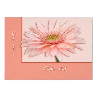 Pink Daisy 5x7 Paper Invitation Card