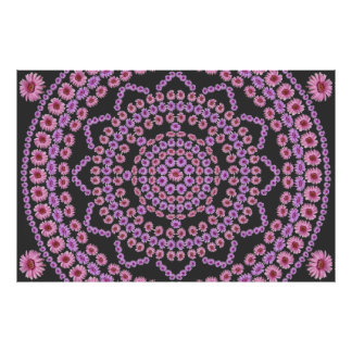 Pink Daisy Mandala Poster