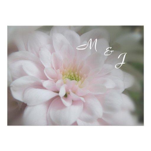 Pink Daisy Mum Wedding Invitation