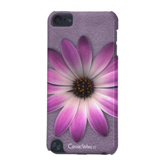 * Pink Daisy On Multi-Color Leather Texture iPod Touch 5G Cases