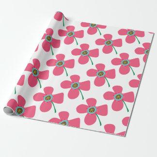 Pink Daisy Pop Flower Whimsical Custom Gift Wrap