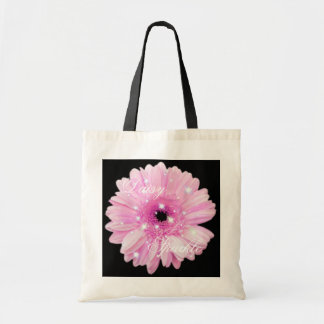Pink Daisy Sparkle Tote