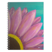 Pink Daisy Spiral Notebook