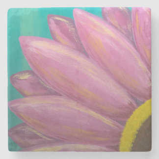 Pink Daisy Stone Coaster