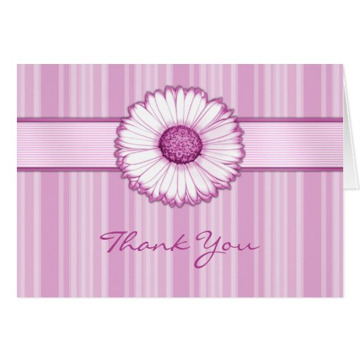 Pink Daisy Thank You Card
