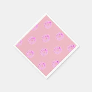 Pink Daisy ,White Standard Cocktail Paper Napkins Disposable Serviette