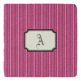 Pink Dakar Rectangular Monogram Trivet