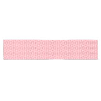 Pink damascus table runner, elegant rich pattern short table runner