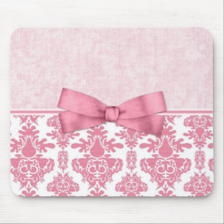 Pink Damask 2 Mouse Pads