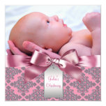 Pink Damask Baby Girl Photo Christening