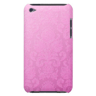 Pink Damask Barely There iPod Touch Case