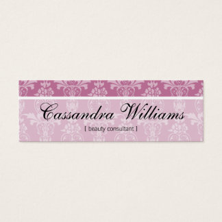 Pink Damask Beauty Micro Mini Business Cards