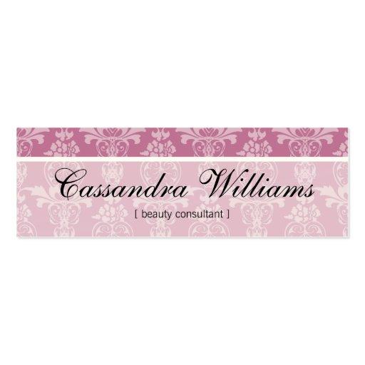 Pink Damask Beauty Micro Mini Business Cards