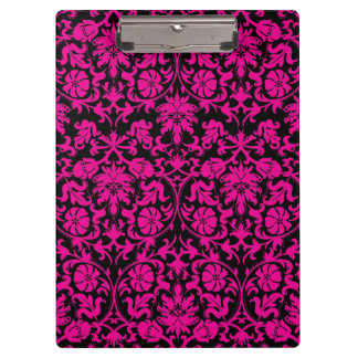 Pink Damask Clipboard