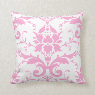 Pink Damask Design Pillow